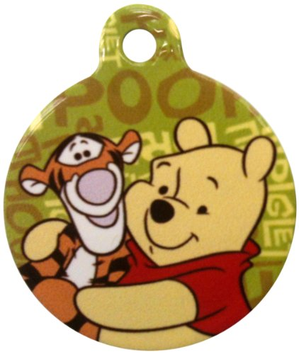 Platinum Pets Disney 1.5-Inch Smartphone Pet ID Tag with GPS, Winnie the Pooh Design, My Pet Supplies