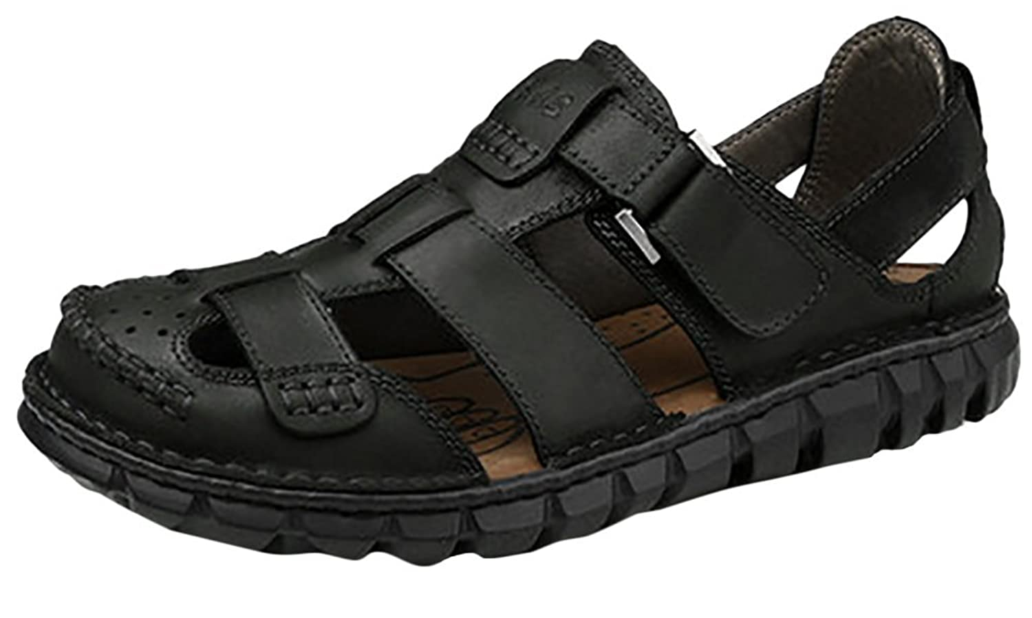 Ace Mens Real Leather Sports Water shoes Athletic Sandals
