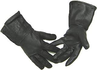 product image for Northstar Mens Black Deerskin 4 Inch Gauntlet Gloves, Fleeced Lined Biker 317B