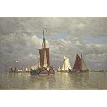 'Paul Jean Clays Ships Lying Near Dordrecht ' Oil Painting, 12 X 18 Inch / 30 X 45 Cm ,printed On Perfect Effect Canvas ,this High Definition Art Decorative Prints On Canvas Is Perfectly Suitalbe For Study Artwork And Home Gallery Art And Gifts
