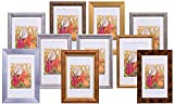 BD ART Gift Set, Pack of 10 Wooden Picture Frames - Made to Display Photo 4 x 6 (10 x 15 cm) with Mount and 5 x 7(13 x 18 cm) Without Mount - Glass Front