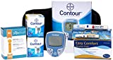 Bayer Contour Meter, 100 Contour Test Strips, 100 Slight Touch 30g Lancets, 1 Lancing Device, 100 Alcohol Prep Pads and Control Solution