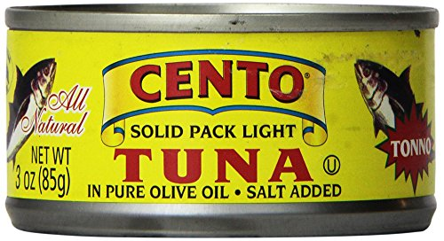 Cento Solid Packed Tuna in Olive Oil, 3-Ounce Cans (Pack of 24)]()