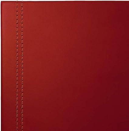 Eglooh Costuras Artesanal Estructura Interna en Acero Hecho en Italia Clio Alfombrilla Raton xxl Antideslizante Protector Mesa Escritorio en Cuero Rojo Burdeos cm 50x35