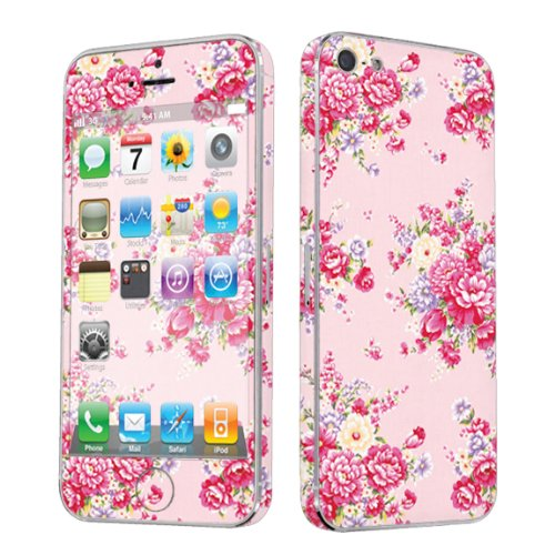 Apple iPhone 5 Full Body Vinyl Decal Protection Sticker Skin Pink Floral By Skinguardz