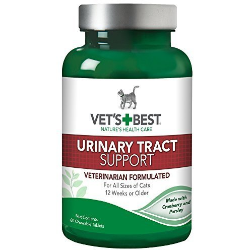 Vet's Best Feline Urinary Tract Support FamilyValue 2Pack (60 Chewable Tablets)-UnANQ-Vet's (Urinary 60 Tract Tablets Support)