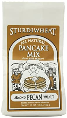 Sturdiwheat All Natural Pancake Mix, Almond Pecan Walnut, 16-Ounce Package (Pack of 4)