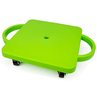 "K-Roo Sports 11.5"" Gym Class Super Scooters Sliding Board with Non-Skid Casters and Safety Handles (Green) : Sports & Outdoors"