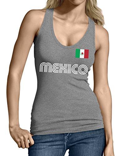 SpiritForged Apparel Mexico Soccer Jersey Junior's Tank Top, Dark Gray Large