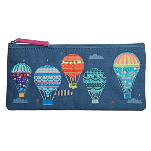 Pencil Cosmetic Pouch case Jewelry Holder Travel Pen Pencil Marker Storage School (Embroidered Lurex Design)