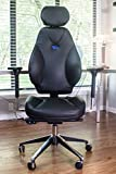 VIVA OFFICE Hottest High Back Ergonomic Multi-function Luxury Leather Office Chair with Top Leather Seat and Back, Adjustable Italy DONATI Armrests and Italy Synchronous Mechanism, and Aluminum Base