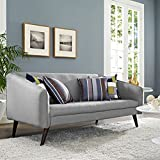 Modern Contemporary Urban Design Living Lounge Room Sofa, Grey Gray, Fabric