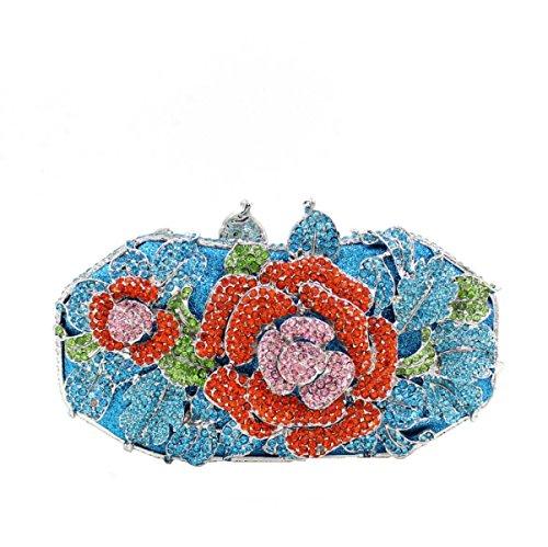 Luxe De Fleur Sac à D Pack Soirée Sac Banquet Main Diamant Femmes UZwtqq