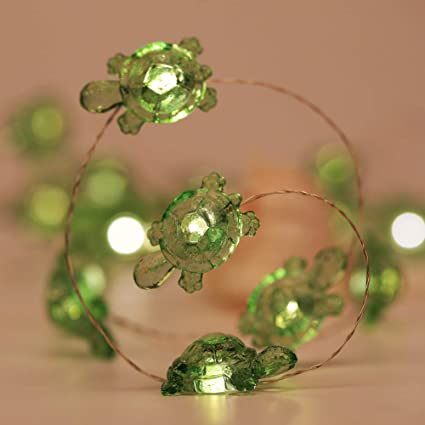 check out 9f489 198b2 LED Lights String,YRDZ Ocean Theme Series Turtle String Light - Silver Wire  Fairy Lights 40 LED,Battery-Powered with Dimmable Remote-Ideal for Ocean ...