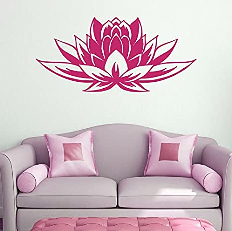 Details about  /Wall Vinyl Decal Lotus Sacred Flower East Symbol of Buddhism Home Decor z4827