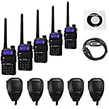 5 Pack Baofeng UV-5RTP Tri-Power 8/4/1W Two-Way Radio Transc