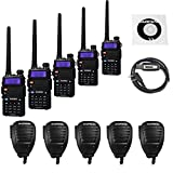 5 1 4 speakers - 5 Pack Baofeng UV-5RTP Tri-Power 8/4/1W Two-Way Radio Transc