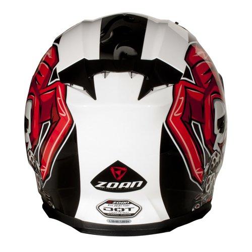 Amazon.es: Zoan Blade Sv Joker Full Face calle Moto equitación casco w/visera XS