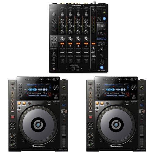Pioneer DJM-750MK2 Mixer w/ CDJ-900NXS Digital DJ Players
