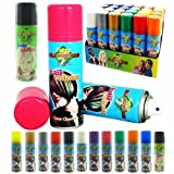 worldart @ 12 pcs NEW Fantasy Ladies Girls Party Carnival Outfit Accessories UNISEX TEMPORARY HAIR COLOUR SPRAY