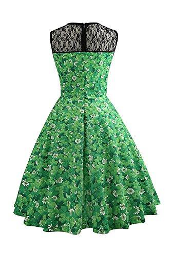 Kleid 50er grun