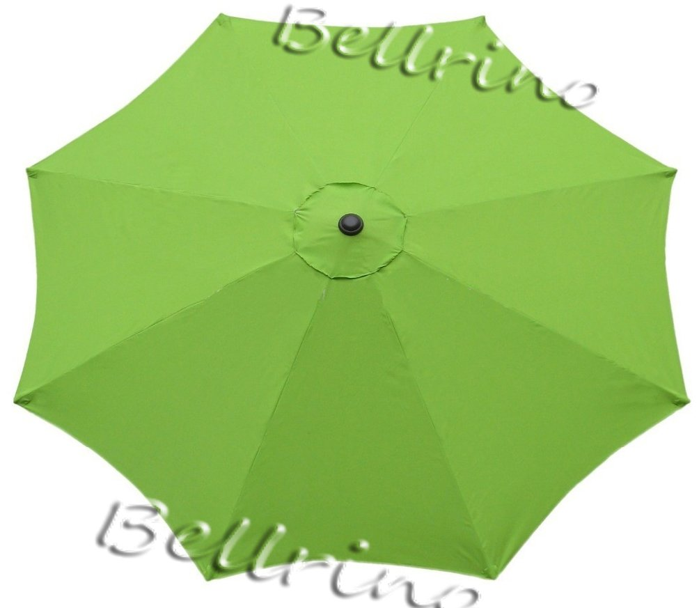BELLRINO Decor Replacement SAGE Green Strong and Thick Umbrella Canopy for 9ft 8 Ribs SAGE Green (Canopy Only)