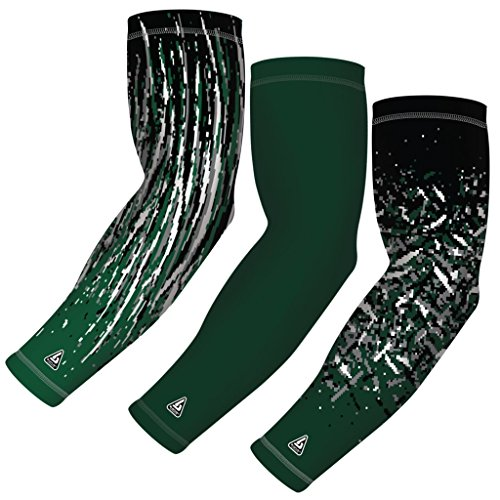 B-Driven Sports (3-pack) Sports Arm Sleeve for Baseball Football Basketball Bowling or Other Activities. Youth and Adult sizes in 8 Colors. For Men and Women. By 12mmGH compression.