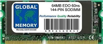 64MB 60ns 144-PIN Edo SODIMM Memoria RAM para Ordenador PORTÁTILES/NOTEBOOKS