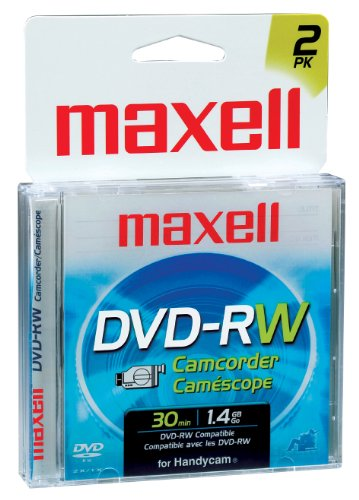 Maxell 567625 DVD-RW Re-Recordable Camcorder DVD - 2Pk