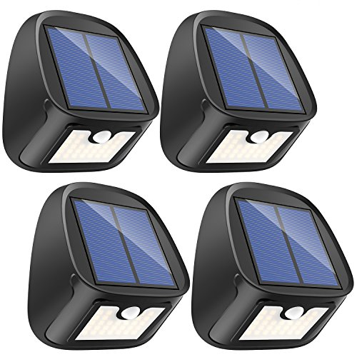 Solar Lights Outdoor, 29 LED Solar Motion Sensor Lights – Waterproof Security Light – Solar Wall Lights with Motion Activated Auto ON/Off for Outdoor Deck Patio Backdoor Driveway Garage Garden(4 pack)