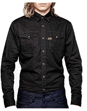 G Star RAW CO Western Alpine Shirt in Raven Alpine Twill, Size L $140