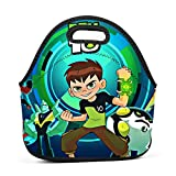 Cily-Bagge Custom Ben-10 Game Office/School/Picnic Lunch Bag for Kids/Men/Women Tote Handbag