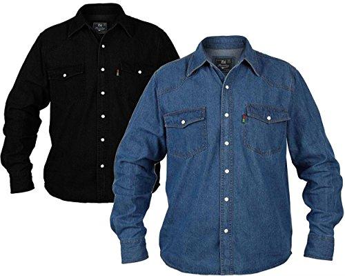 Duke London Herren Freizeit-Hemd Gr. XXX-Large, schwarz
