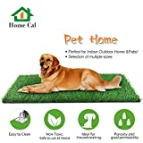 Home Cal Artificial Grass Rug Series Landscape Outdoor Decorative Synthetic Turf Pet Dog Area with Neat Edge 2cm 40''x28'' Summer Grass