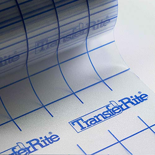 "Greenstar TransferRite 12"" x 30ft Clear Transfer Paper Tape w/Grid, Application Tape"
