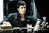 Espritte Art-Large Canvas Giclee Print Painting Movie Scarface Poster Al Pacino Picture without Framed, Modern Home Decorations Wall Art, 24*36inches #05HTK(446)