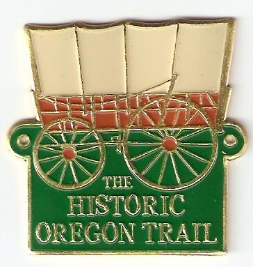 Historic Oregon Trail - Hiking Stick Medallion (Walking Staff Medallions)