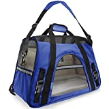 Extensible Travel Pet Bag Pet Carrier Dog Cat Soft Sided Airline Approved Small Puppy Travel Bag MCW-CA-002 (L)