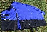 Challenger 80'' 1000D Turnout Waterproof Horse Winter Blanket Medium Weight Blue 105LG