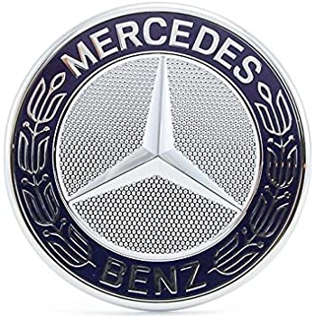 Fits Mercedes Benz All 2000 2010 16 2017 18 Badge Logo Emblem Chrome Blue