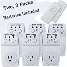 Wireless Remote Control Outlet Switch 120 watts Socket, Two 3 Packs