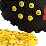Jiayuane 40 PCS 10 Teeth Anti-slip Ice snow Grips Walk Traction Cleats Snow Ice Spikes for winter security