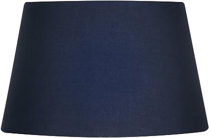 couleur : beige blu navy Abat-jour en coton 25 cm Oaks Lighting