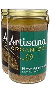 Artisana Organics - Almond Nut Butter, Single Ingredient Handmade Rich & Thick Spread, USDA & QAI Organic Certified, Non-GMO, Vegan & Gluten Free (2-Pack, 14 oz)