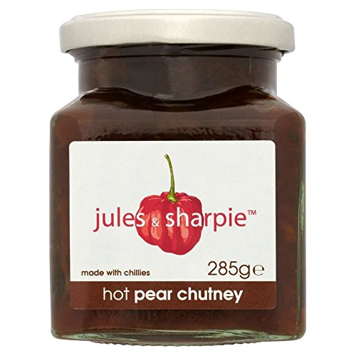 Jules & Sharpie Hot Pear Chutney (285g) - Pack of (Pear Chutney)