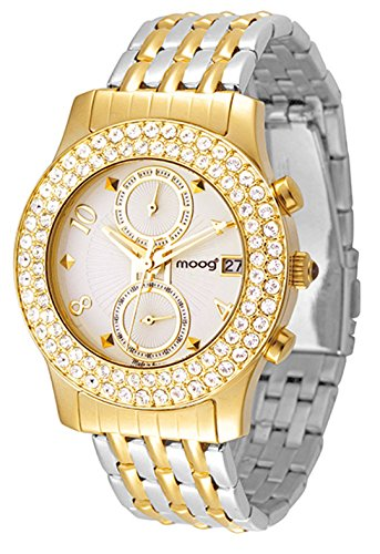 Moog Paris Heritage Women's Watch with White Dial, Gold & Silver Stainless Steel Strap & Swarovski Elements - M45554-102