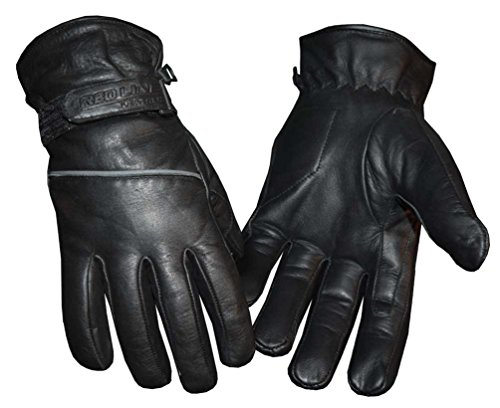 Redline Mens Reflective Piping Full-Finger Thinsulate Leather Gloves G-048 (3XL)