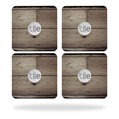 MightySkins Protective Vinyl Skin Decal for Tile Slim Key Finder (4 pack) wrap cover sticker skins Wooden