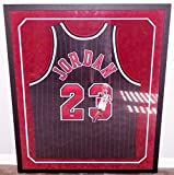 Chicago Michael Jordan Signed Game Issued 96-97 Gold Nike Jersey Upper Deck Authenticated Painted by Jolene Jessie, 9/23