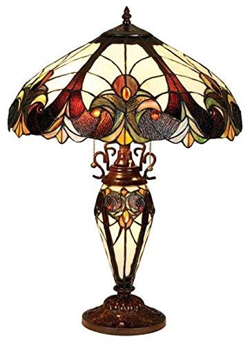 Chloe Lighting CH18780I-DT3 Light Victorian Double Lit Table Lamp
